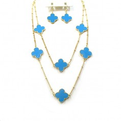 NECKLACE SET 13177330865 TURQ