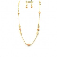 NECKLACE SET 3453330500  PEACH
